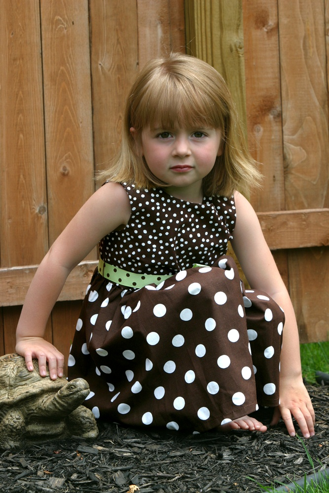 "Dress with interchangeable ""bibs""-adaptive, adapted, disability, disabled, handicap, handicapped, open back"