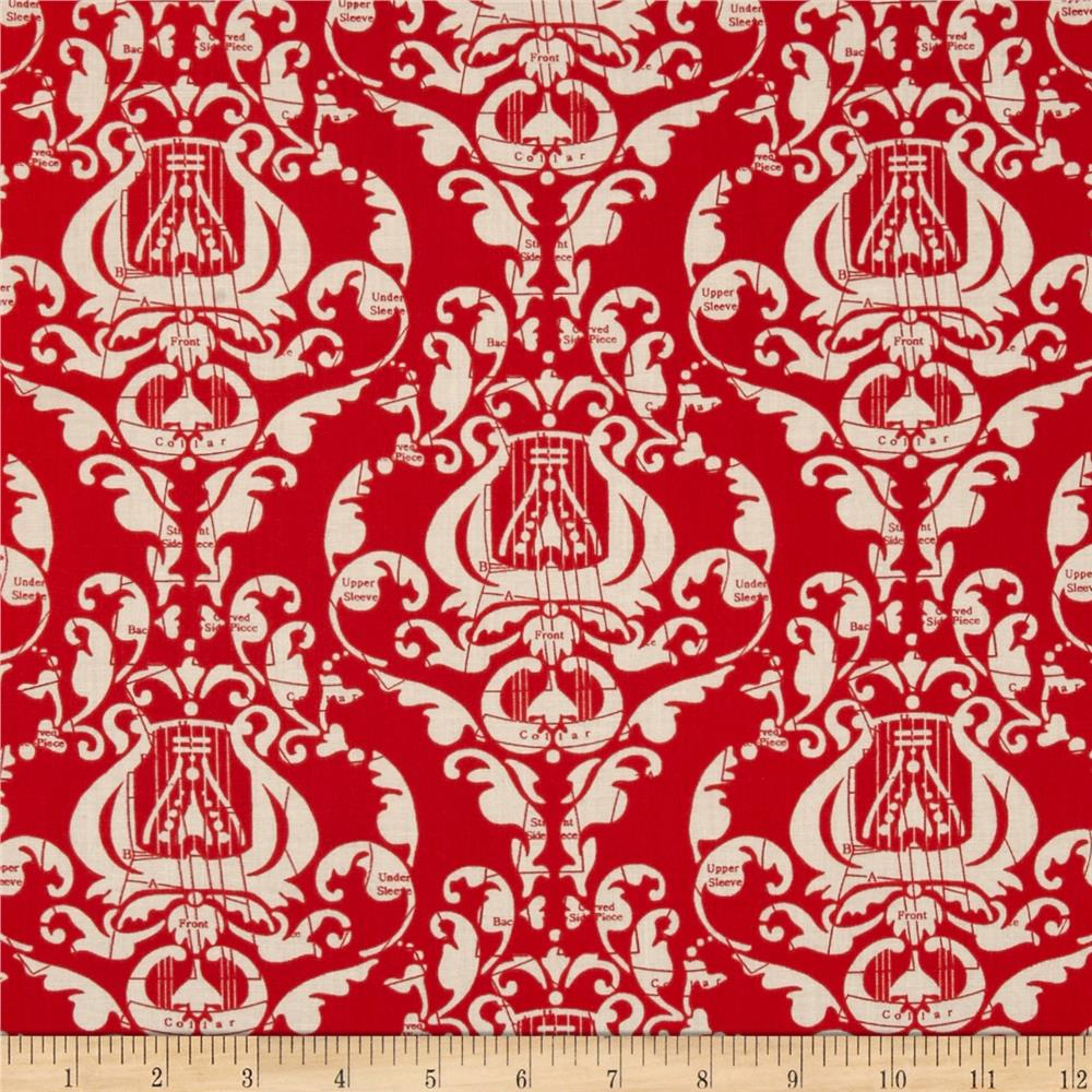Angel Band Red Damask-