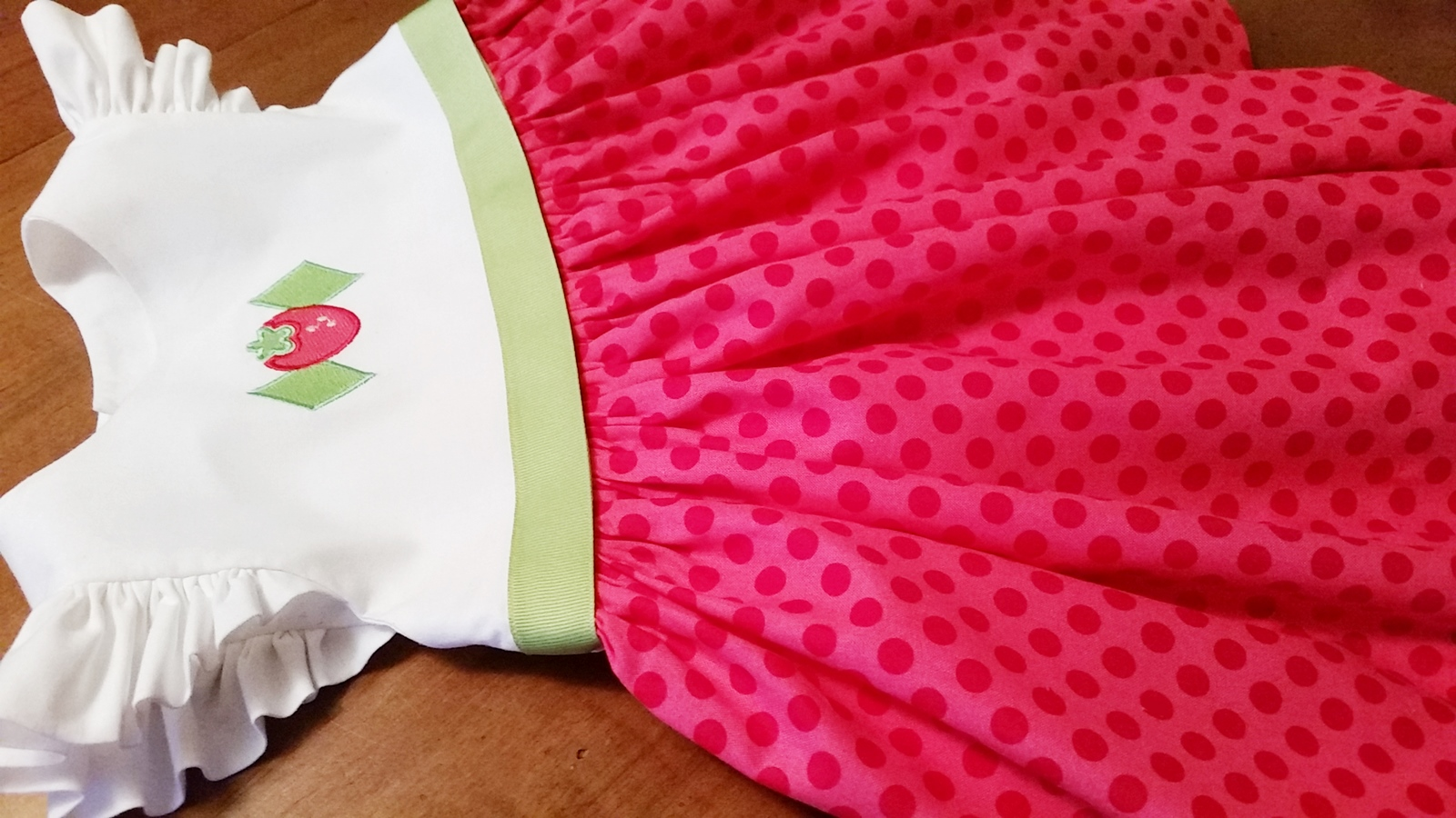 Strawberry Shortcake inspired dress-
